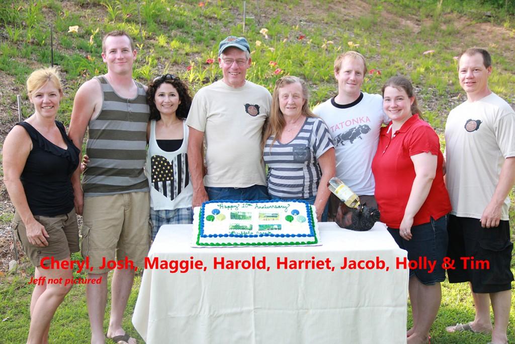Cheryl, Josh, Maggie, Harold, Harriet, Jacob, Holly & Tim