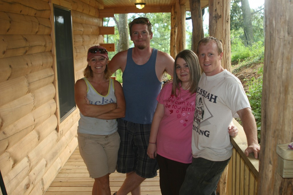 Cheryl, Josh, Holly & Jacob after completing Buffalo Bungalow