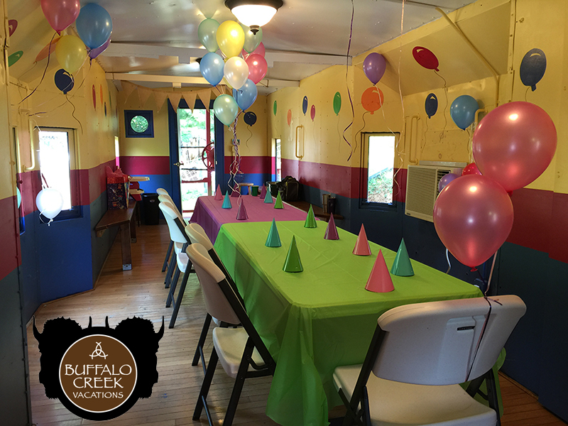 BC Party Caboose inside