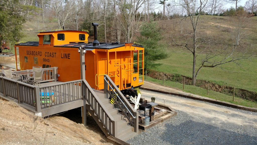 Buffalo Creek Vacation Caboose rental Seaboard Coast Line # 0843 BACK