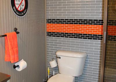 Bathroom of Rental Caboose