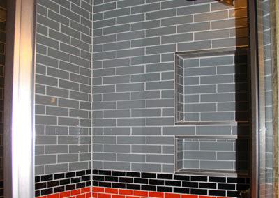 Shower in Rental Caboose