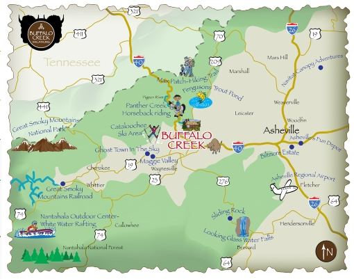 Cabin Rental Map - North Carolina