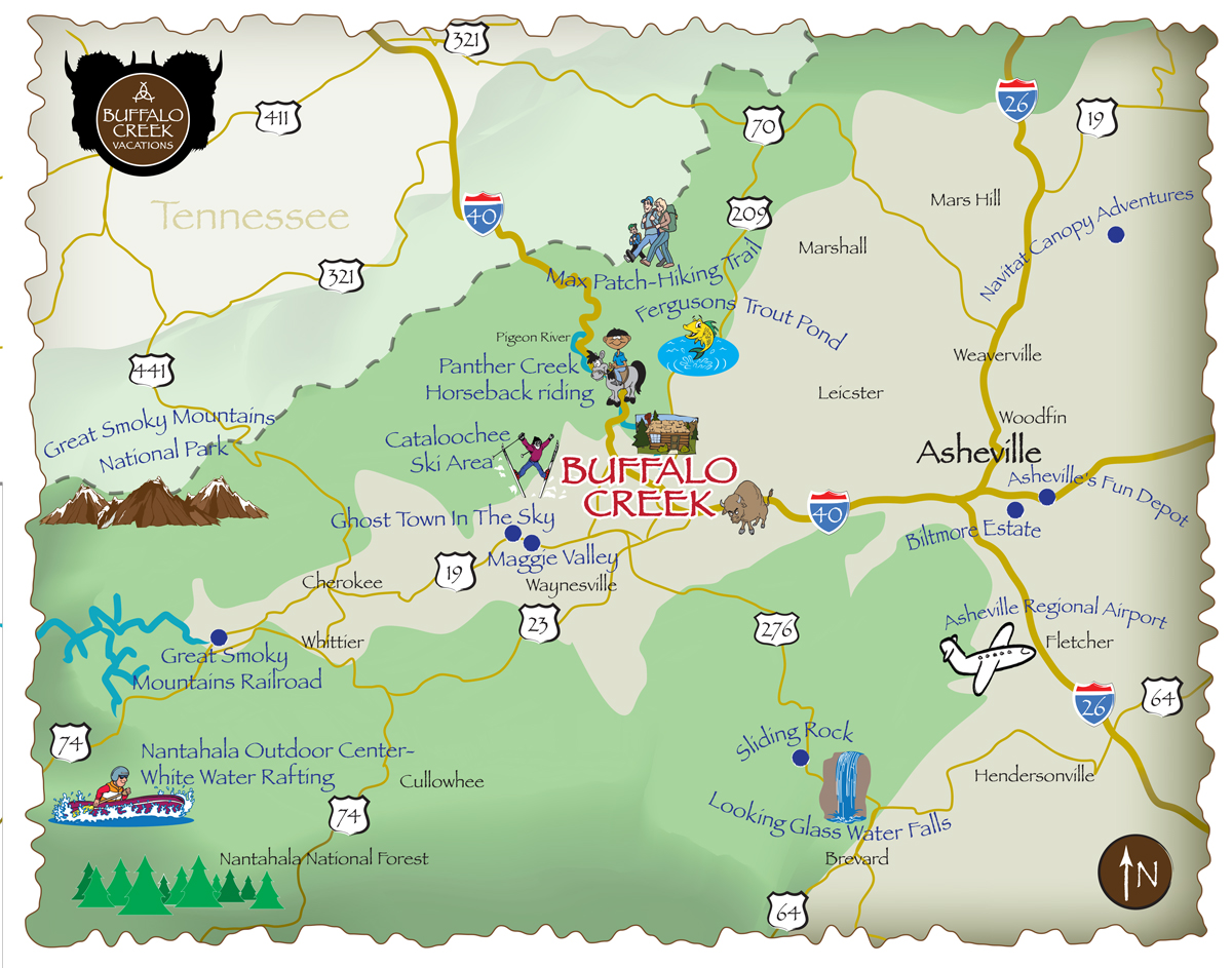 Our Location Buffalo Creek Vacation Rentals - Where is buffalo located